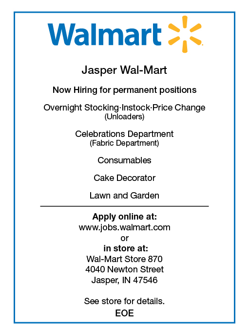 Walmart-Help-Wanted - Dubois County Free Press