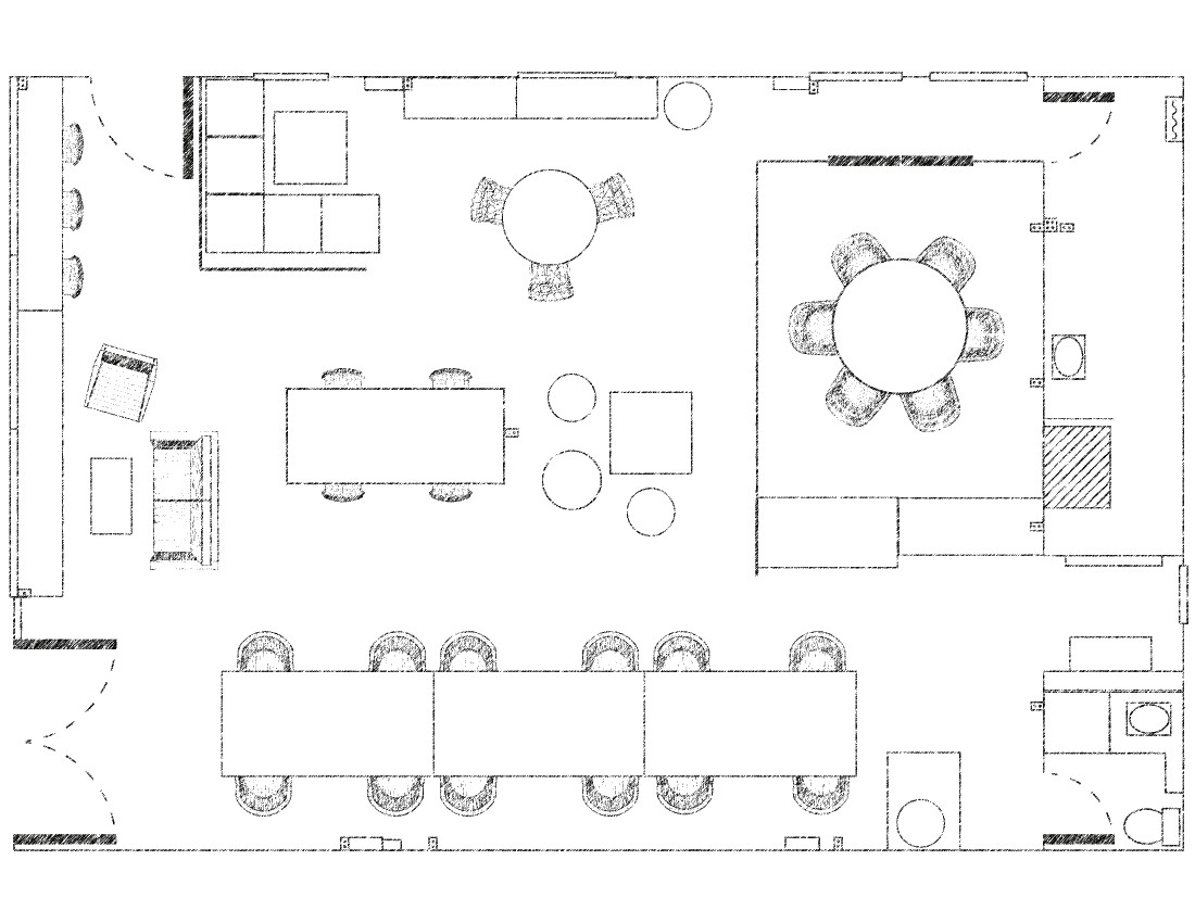 Free Office Floor Plan: Current Blend New Coworking Space In Huntingburg