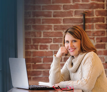 Buehler has based her business from the cowork space in Huntingburg, Current Blend.