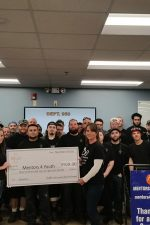The check was presented to Mentors for Youth last Thursday, November 30.