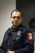 Officer Martin Loya was presented an award by the U.S. Attorney's Office for his efforts to thwart an identity theft ring operating in Southern Indiana and Northern Kentucky.