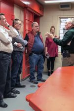 Justice Committee members toured the jail with DOC Jail Inspector Kenny Whipker.
