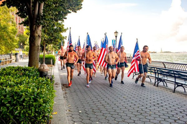The team ran from Battery Park to the 9/11 Memorial.